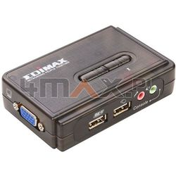 EDIMAX (EK-UAK2) PRZEŁĄCZNIK KVM 2xUSB, AUDIO+MIC, 2 x 1.8M kabel kvm