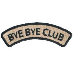"Patrizia Pepe Naszywka ""Bye Bye Club"""