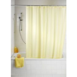 Zasłona prysznicowa, tekstylna, kolor szampański, 180x200 cm