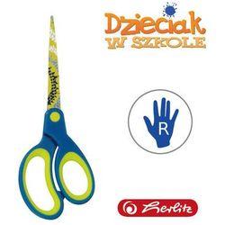 Nożyczki szpiczaste niebiesko-zielo 17,5cm Herlitz - niebiesko-zielone