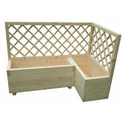 Duża drewniana donica ogrodowa z pergolą - Hestra