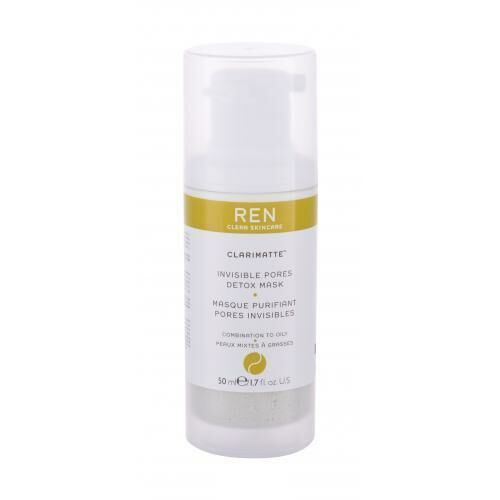 Maseczki do twarzy, Ren Clean Skincare Clarimatte Invisible Pores Detox maseczka do twarzy 50 ml dla kobiet