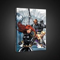 Obrazy, Obraz MARVEL AVENGERS: Hawkeye, Black Widow, Nick Fury PPD313O4