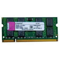 Pamięć RAM 1x 2GB KINGSTON SODIMM DDR2 667MHz PC2-5300 KVR667D2S5/2G