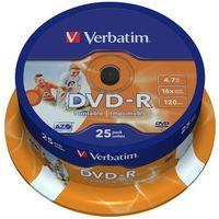 Płyty CD, DVD, Blu-ray, Płyta VERBATIM DVD-R Wide Inkjet Printable ID Brand