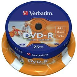 Płyta VERBATIM DVD-R Wide Inkjet Printable ID Brand