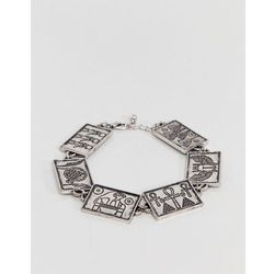 ASOS DESIGN Egyptian Style Chain Bracelet In Burnished Silver - Gold