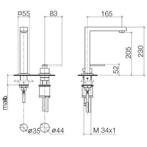 Baterie do kuchni, Bateria Dornbracht Lot 32805680-00