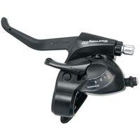 Manetki i przerzutki, Klamkomanetka Shimano Tourney TX, ST-TX800 3rz, lewa, V-Brake, czarna