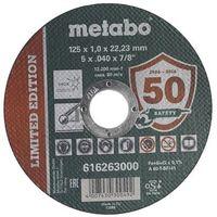 Pozostałe akcesoria do narzędzi, Tarcza do cięcia TF41 125 x 1.0 x 22.23 INOX METABO