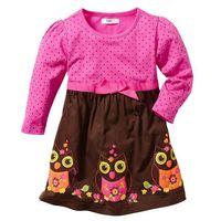 Sukienki dziecięce, Sukienka bonprix fuksja - ciemnobrązowy