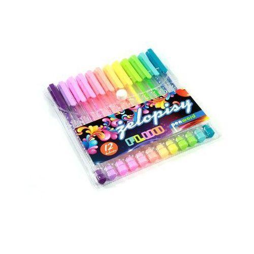 Długopisy, Długopis żelowy 12 kolorów Fluo 2012-12 - Penword