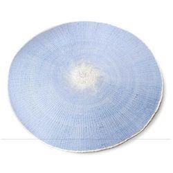 Okrągła niebieska mata na stół naturalna eco 38cm