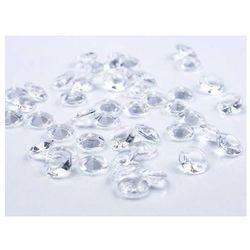 Diamentowe konfetti - bezbarwne - 12 mm - 100 szt.