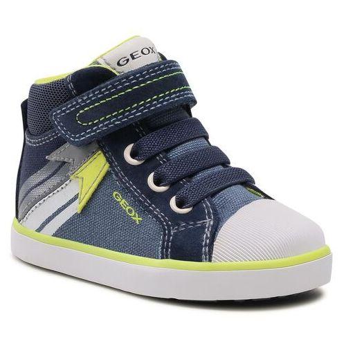 Buty sportowe dla dzieci, Trampki GEOX - B Kilwi B. A B15A7A 01022 C4B2H M Avio/Fluo Yellow