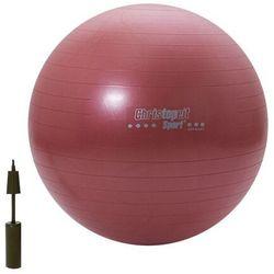Piłka gimnastyczna treningowa czerwona 65cm Christopeit