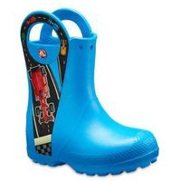 Pozostałe obuwie dziecięce, Buty Crocs Handle It Graphic Boot Kids 204976 OCEAN - NIEBIESKI