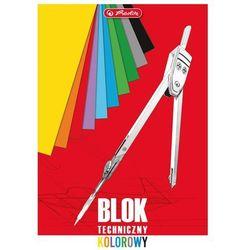 Blok techniczny A4 10 kartek kolorowy - Herlitz