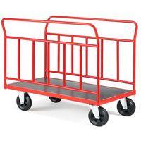 Wózki widłowe i paletowe, Wózek platformowy, 2 ramy, 400 kg, 700x1200 mm