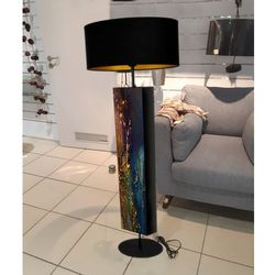 Szmaragdowa dekoracja - ekskluzywna ręcznie rzeźbiona lampa podłogowa rabat 40%