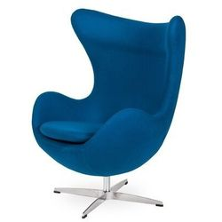 Fotel EGG CLASSIC marynarski niebieski.35 - wełna, podstawa aluminiowa