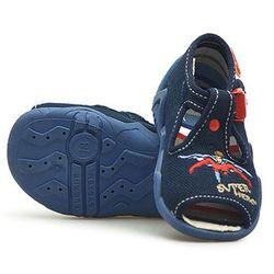 Sandałki dziecięce Befado 217P009 Granatowe Super hero