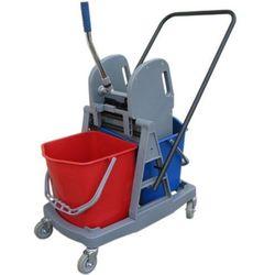 Wózek do sprzątania dwuwiadrowy, dwa wiadra 17 l prasa do mopów Wózki do sprzątania, Merida