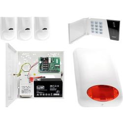 System alarmowy kiosku Płyta główna CA-4 VP Manipulator CA-4 VKLED 3x Czujka ruchu LC-100 Sygnalizator zewnętrzny