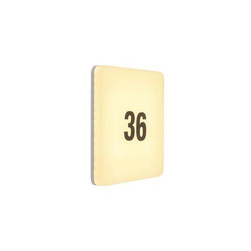 Czujki alarmowe, Nowoczesna kwadratowa lampa zewnętrzna LED czujnik ruchu numer domu - Plater
