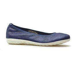 Baleriny Caprice 9-22142-22 Granatowe jeans zamsz
