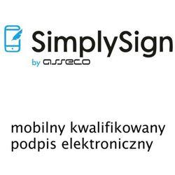 SimplySign - mobilny kwalifikowany podpis elektroniczny - wydanie - 3 lata