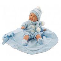 Lalki dla dzieci, Lalka 38937 Joel płacząca z niebieskim kocykiem