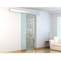 Naścienne drzwi przesuwne HEIDI - wys. 205 × szer. 83 cm - Szkło hartowane