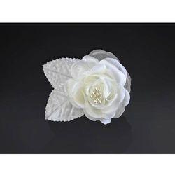 Róże kremowe na przyssawkach na samochód - 5,5 cm - 10 szt.