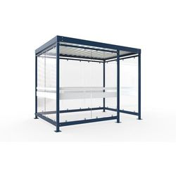 Zadaszenie z dachem stalowym, wys. 2510 mm, szer. x głęb. 3180x2165 mm, zamknięt