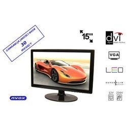 "NVOX PCA154 VGA DVI Monitor LCD 15"" cali LED VGA DVI 12V 230V"