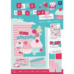 Blok kreatywny A4 z naklejkami Spring + zakładka do książki GRATIS
