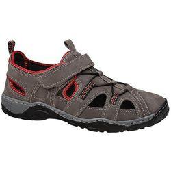 Sandały trekkingowe MANITU 620232-8 Beige/Rot Beżowe męskie