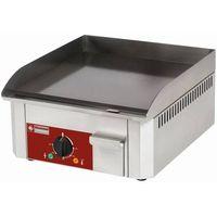 Grille gastronomiczne, Płyta grillowa elektryczna gładka nastawna | 400x400mm | 3000W