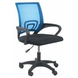 Niebieski fotel obrotowy do nauki - Morgan