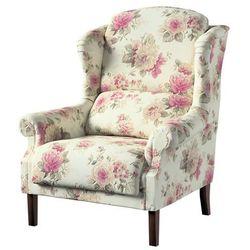 Dekoria Fotel Unique, różowo-beżowe róże na kremowym tle, 85 × 107 cm, Mirella