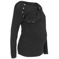 Sweter ciążowy i do karmienia piersią bonprix antracytowy melanż