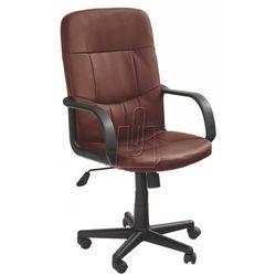 Fotel pracowniczy Denzel ciemno brązowy - gwarancja bezpiecznych zakupów - WYSYŁKA 24H