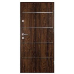 Drzwi zewnętrzne stalowe Elbrouz 90 prawe orzech