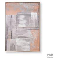 Obrazy, Obraz ręcznie malowany - Abstrakcja w odcieniach różowego złota i szarości 104019