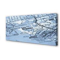 Mapy i atlasy turystyczne, Obrazy na płótnie Mapa miasta