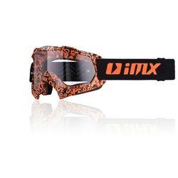 GOGLE IMX MUD (SZYBA CLEAR) Graphic Orange/Black
