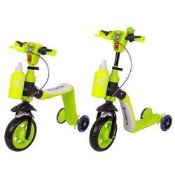 Trójkołowa hulajnoga dla dzieci rowerek biegowy 3w1 WORKER Noggio KOŁA LED, Zielony