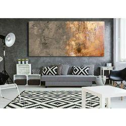 Duże obrazy nowoczesne - ręcznie malowane - popielaty beż z metalicznym wykończeniem rabat 35%