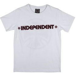 koszulka INDEPENDENT - Bar Cross White (WHITE) rozmiar: 10-12